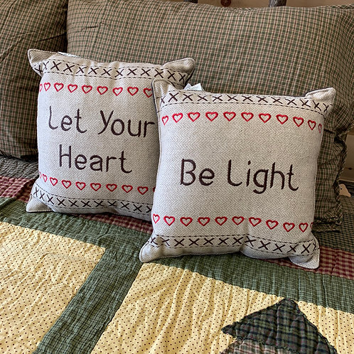 Let Your Heart Be Light Set Of 2