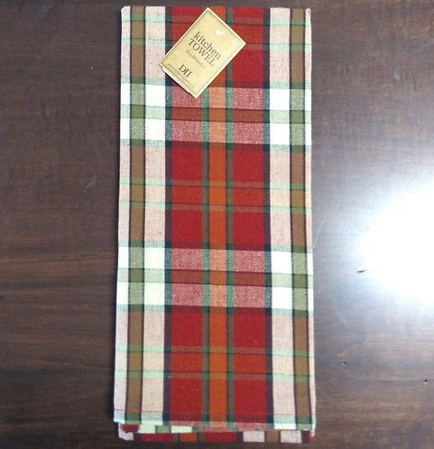 Campfire Plaid Dish Towel