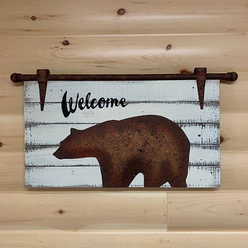 Welcome Bear Sign