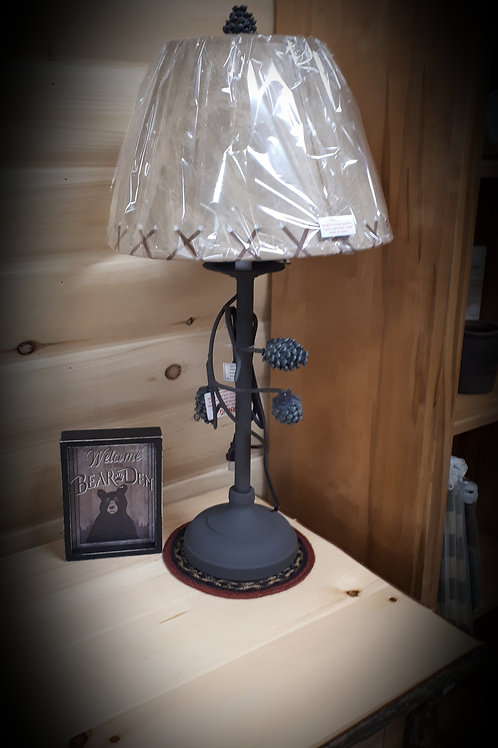 Pinecone Branch Table Lamp