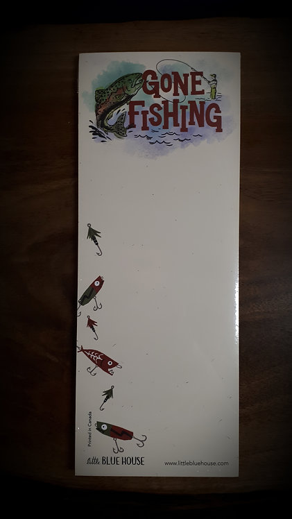 Gone Fishing Magnetic List
