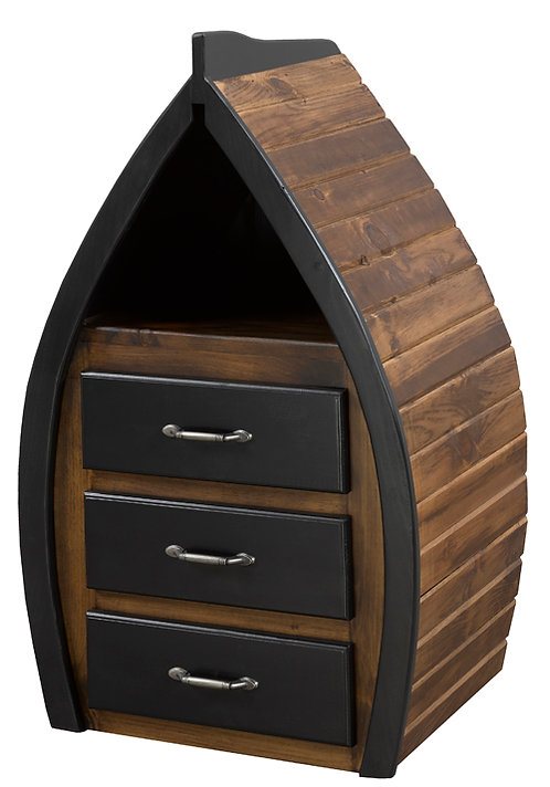3 Drawer Captains Boat Night Stand / End Unit
