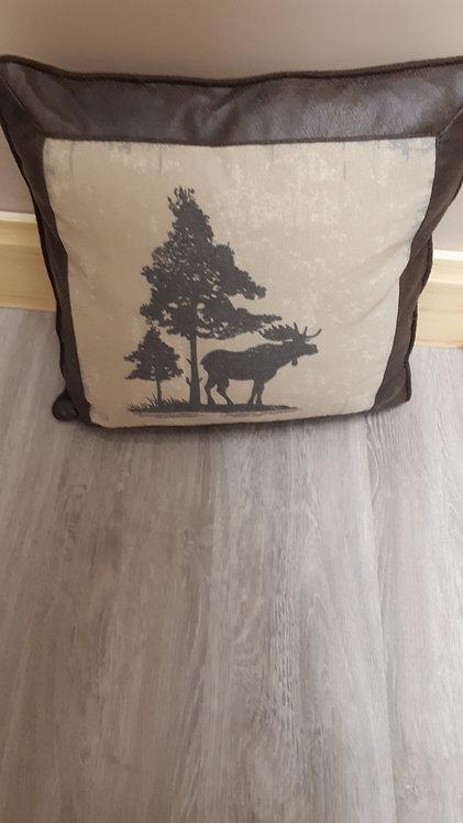 Moose Vintage Pillow