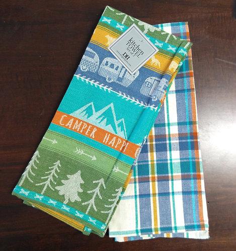 Happy Camper Dish Towel Set of 2