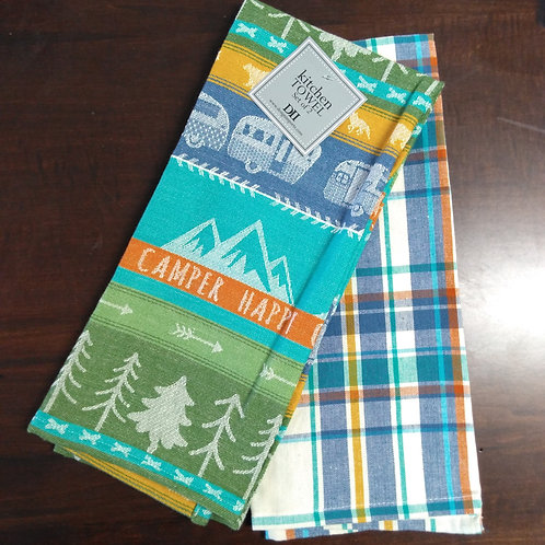 Happy Camper Dish Towel Set of 2