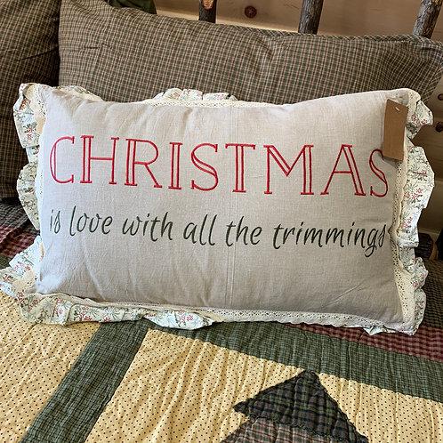 Christmas Trimmings Pillow