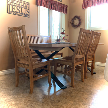 7 Ft Dining table + Mission Chairs