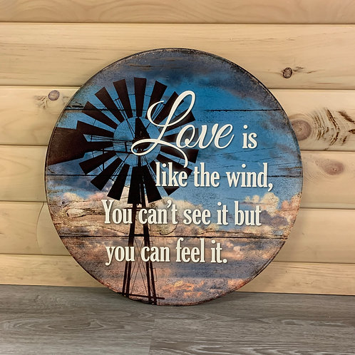 Love Is Like The Wind Sign