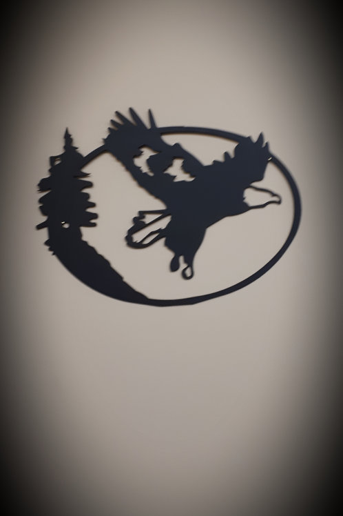 Eagle Sign in Circle - Large