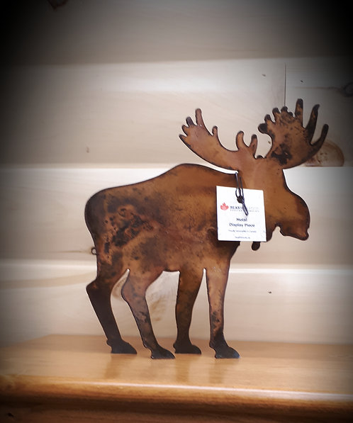 Rusted Metal Moose Medium