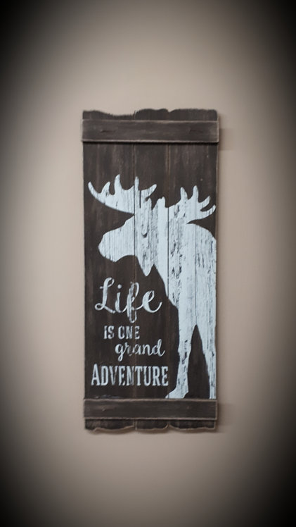 Wood Moose Wall Sign