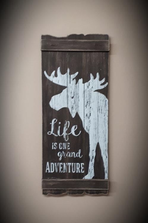Wood Moose Wall Sign