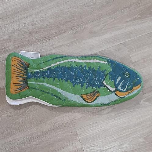 Green Fish Oven Mitt