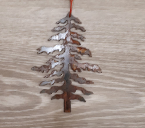 Metal Ornament - Tree