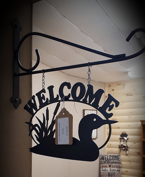 Loon Welcome Hanger Sign