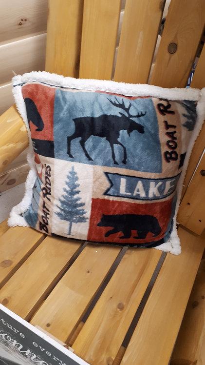 Patchwork Lake Pillow