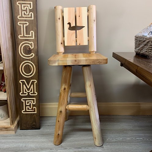 Cut Out Back Barstool - Loon