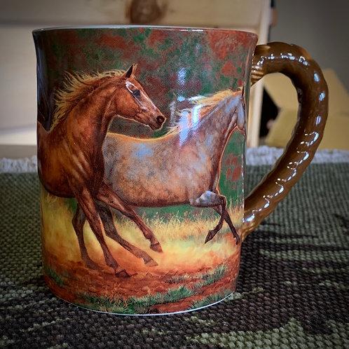 Gold Dust Horses Mug