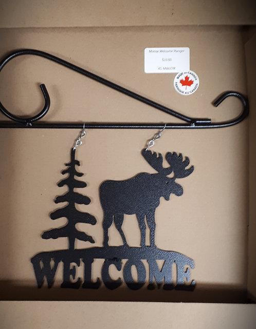 Moose Welcome Hanger Sign
