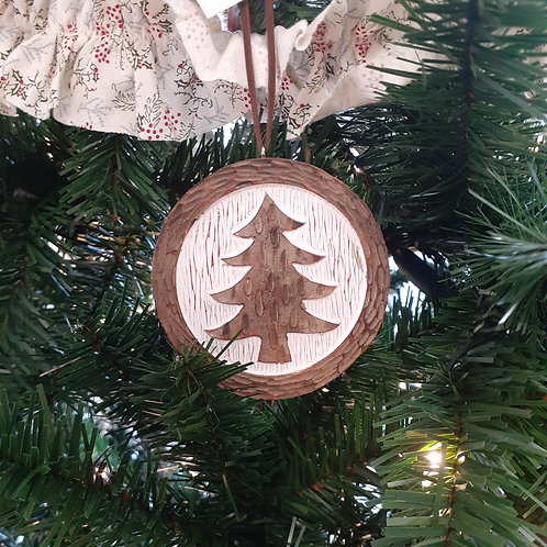 Resin Wood Look Ornament
