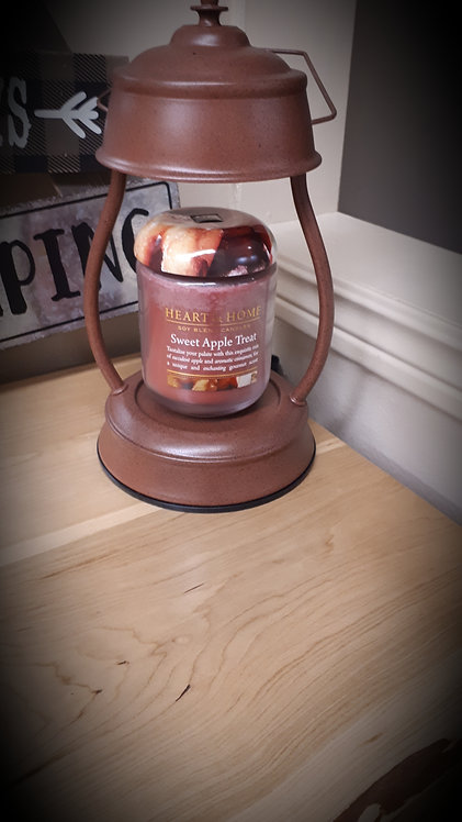 Rustic Brown Hurricane Lantern