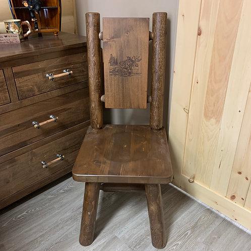 Branded Back Bear Log Chair