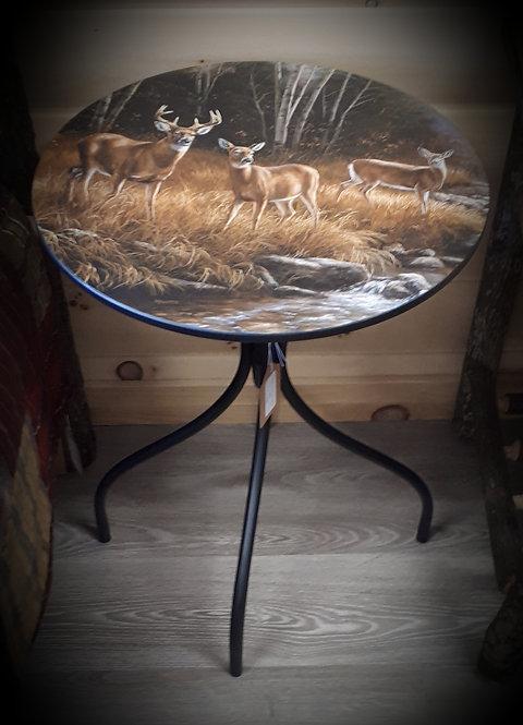Ocean Mist Deer Metal Table