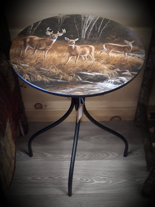 Ocean Mist Deer Metal Table