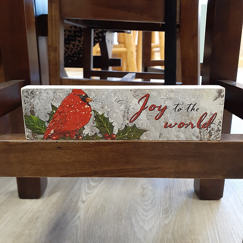 Joy To The World Block Sign - Small