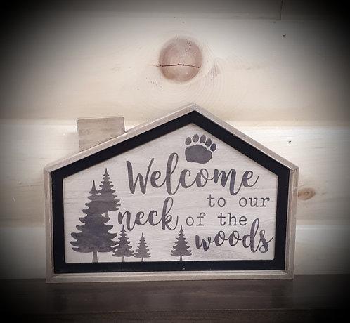 Wood Framed Cabin Sign