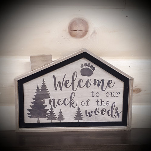 Wood Framed Cabin Sign