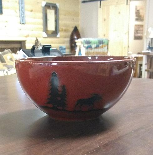 Woodland Moose Stoneware Bowl