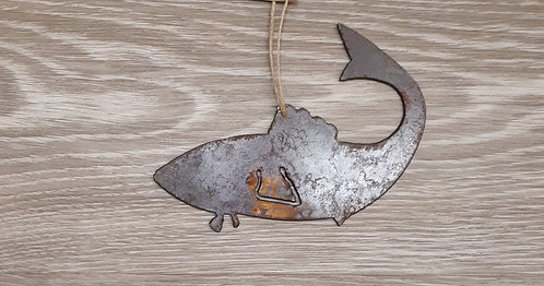 Metal Ornament - Fish Curved