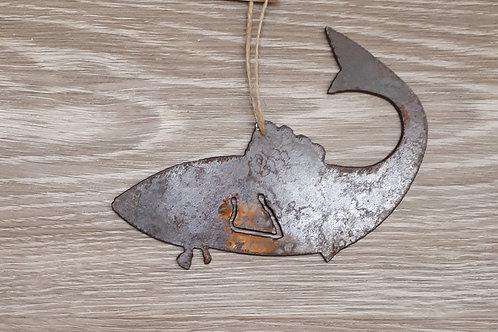Metal Ornament - Fish Curved