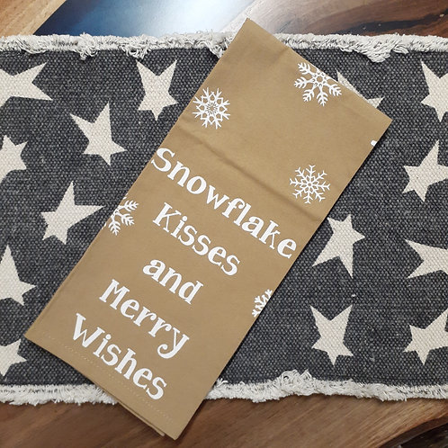 Snowflake Kisses and Merry Wishes Dishtowel