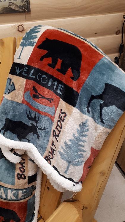 Patchwork Lake Throw / Blanket
