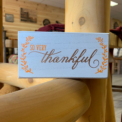 Thankful Fall Table Block