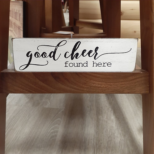 Good Cheer Wood Sign - Small