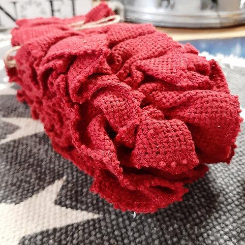 Red Burlap Garland