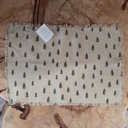 Vintage Burlap Tree Placemat