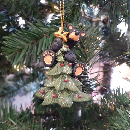 Tree Topper Bear Ornament