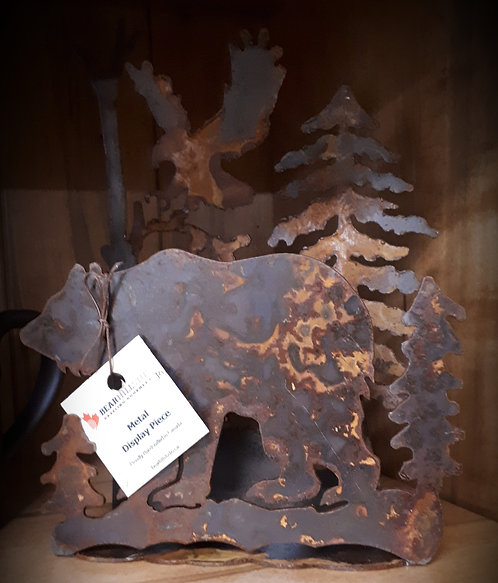 Rusted Wildlife Sconce / Napkin Holder -Bear