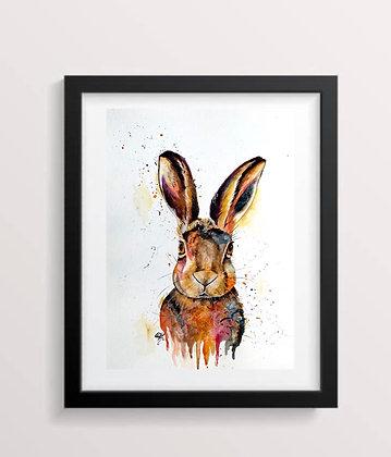 'Hare' Print A3