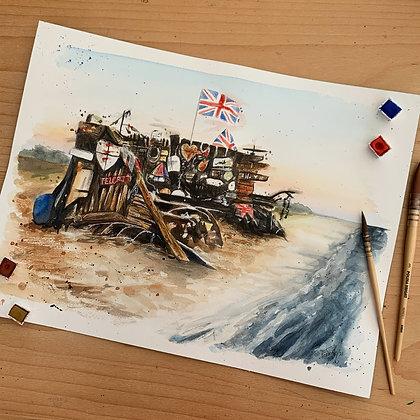 'Beach Bench' Print
