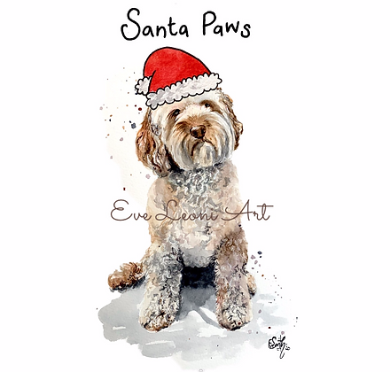 Pack of 8 Pup Christmas Cards