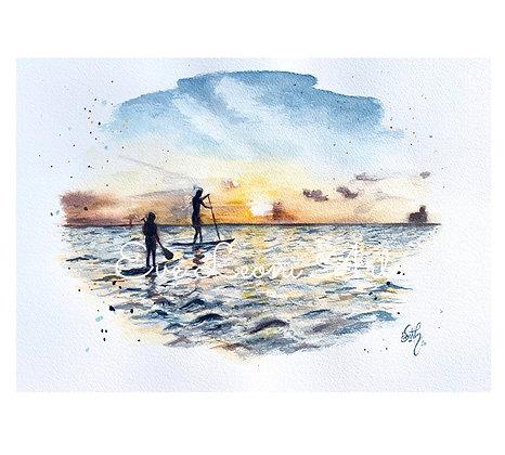 'Sunrise on the Sea' Print