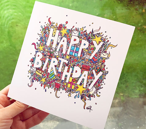 Pack of 5 'Happy Birthday' Cards