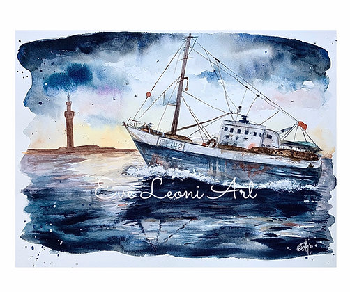 'A Grimsby Morning' Print