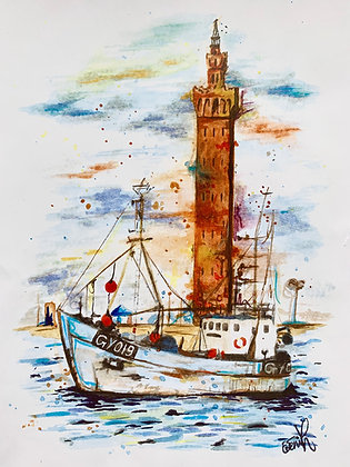 'Tower and Trawler' Print