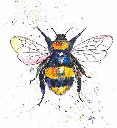 Original Framed 'Bee Happy' Painting